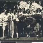 Manifestação de estudantes nos anos 1950. (Acervo Correio da Manhã_Arquivo Nacional)