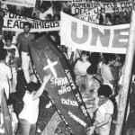 Manifestação de estudantes contra o governo Sarney (Acervo UBES)