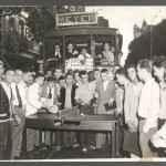 Manifestação contra o aumento do preço da passagem dos bondes, Rio de Janeiro, 1956. (Arquivo Nacional_ Acervo Correio da Manhã)