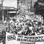 Manifestação Contra o aumento das mensalidades escolares (Acervo UBES)