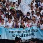 Caravana em defesa do passe estudantil (Acervo UBES)