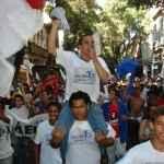 Ismael Cardoso em passeata no Rio de Janeiro, 2008 (Acervo UBES)