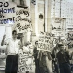 Protesto estudantil nos anos 1950