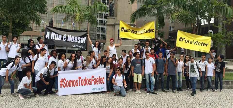 Estudantes se mobilizam contra desmonte na educação do Rio de Janeiro
