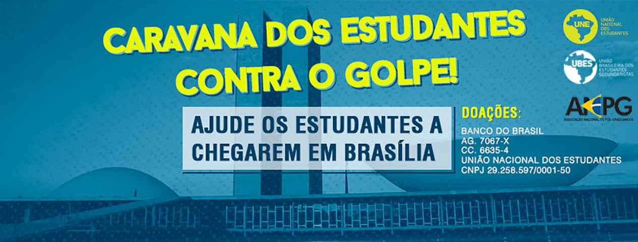 Caravana da democracia: ajude os estudantes a chegar em Brasília