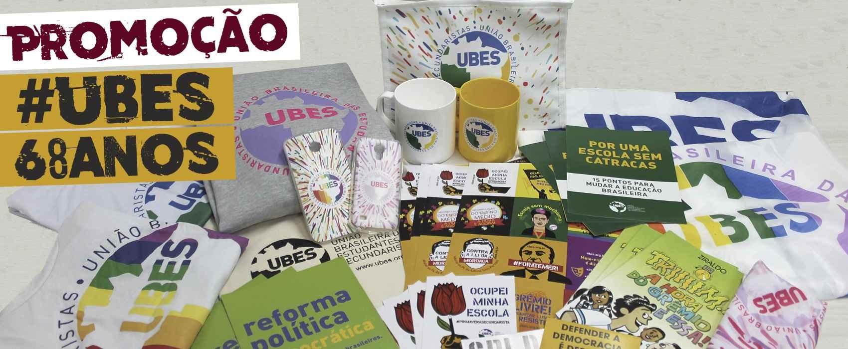 UBES completa 68 anos de luta e sorteia um kit pra você!