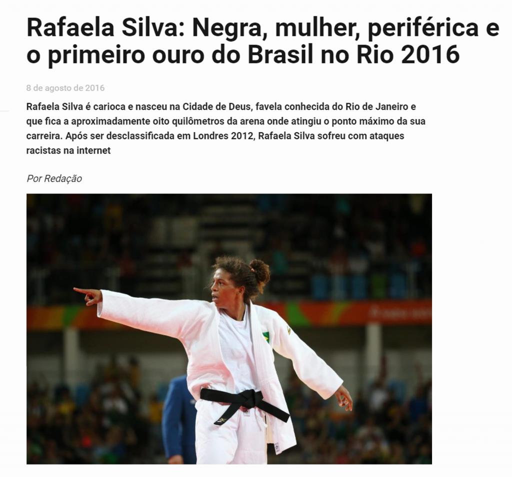 1. rafaela silva _ manchete