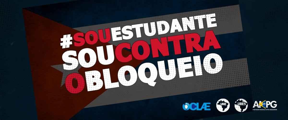 Estudantes brasileiros lançam nota contra bloqueio dos EUA a Cuba
