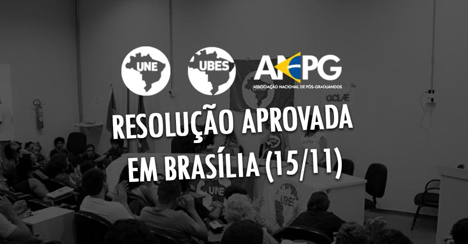 resolução aprovada - brasília