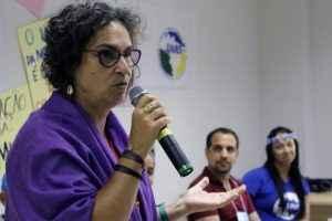 Silvana Brazeiro Conti, da Liga Brasileira de Lésbicas (Foto: Amanda Macedo)