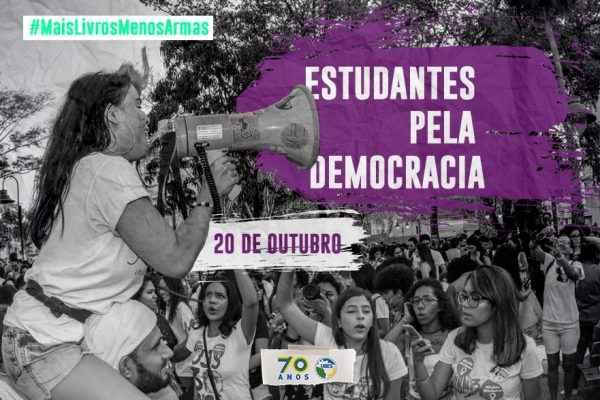 20 de outubro: Estudantes vão às ruas denunciar ameaça à democracia