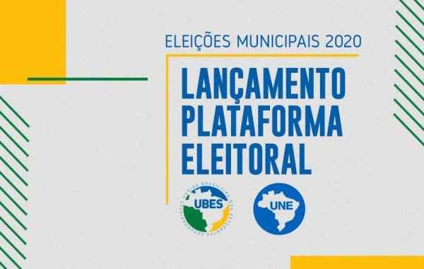 UBES e UNE lançam plataforma eleitoral para eleições municipais