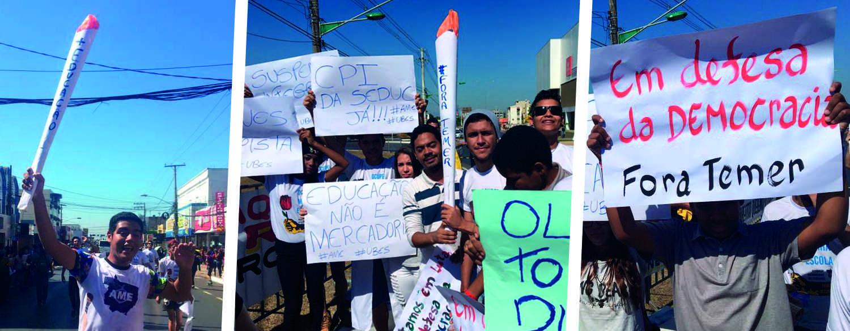"""Estudantes criam """"Tocha da Educação"""" no Mato Grosso"""