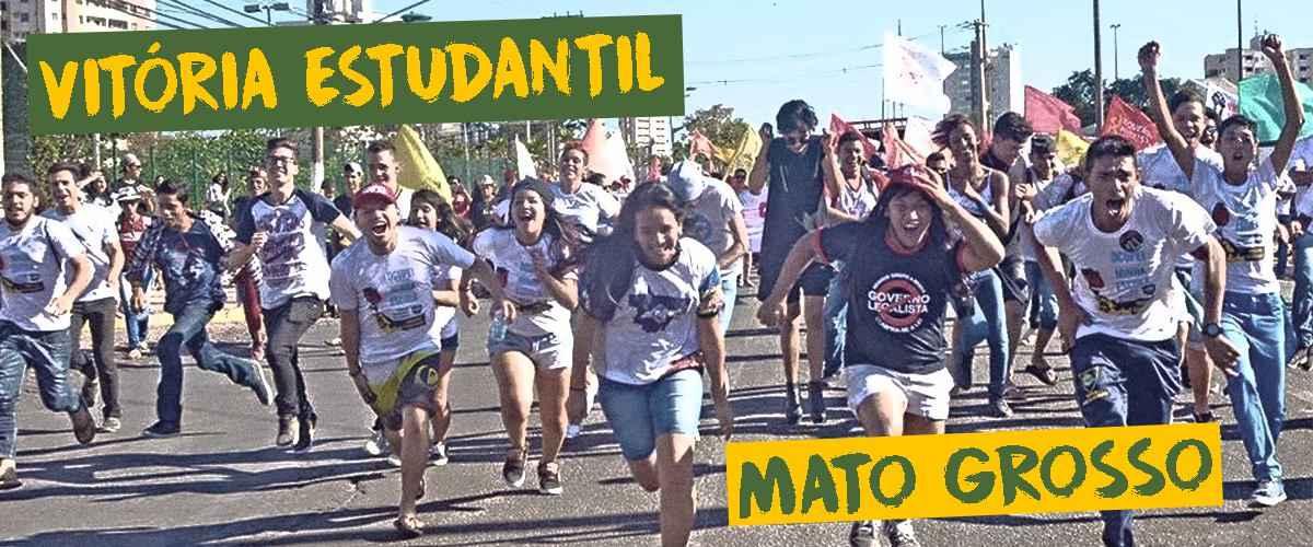 Após pressão estudantil, governo do Mato Grosso retira as Parcerias Público Privadas