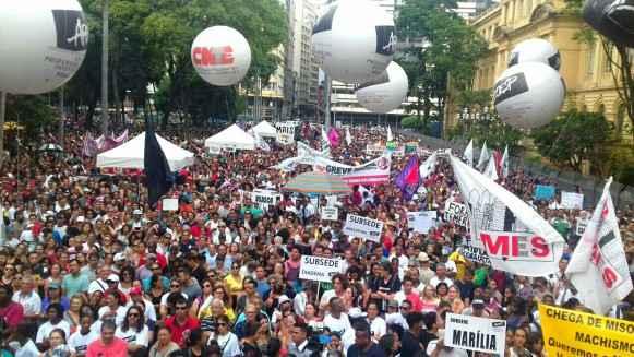 Praça da República, São Paulo. Foto: CUCA da UNE