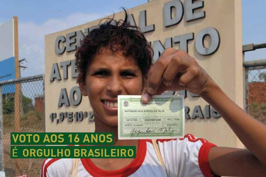 Voto aos 16 anos é orgulho brasileiro