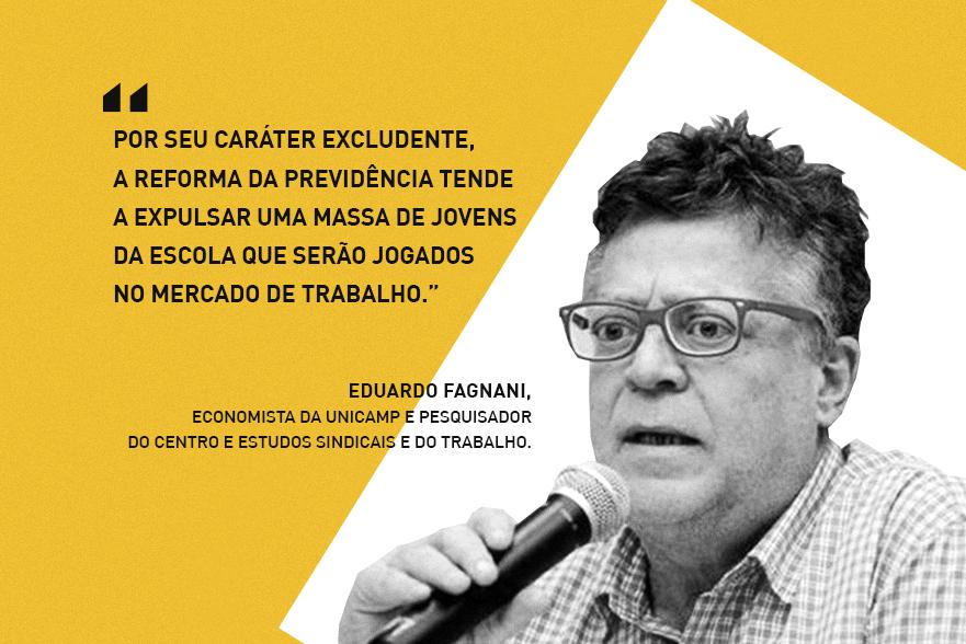"""""""Reforma da Previdência é tragédia anunciada para a educação"""", diz economista da Unicamp"""
