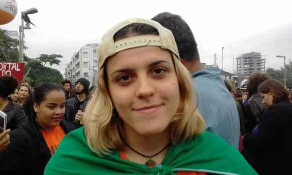 A estudante de Geologia da USP, Mariana de Souza.