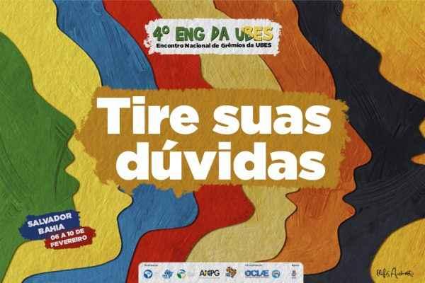 Como fazer parte do Encontro Nacional de Grêmios em Salvador? Tire suas dúvidas