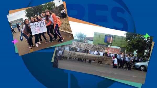 """Protesto contra militarização em escola: """"Não se constrói uma história apagando a outra"""""""
