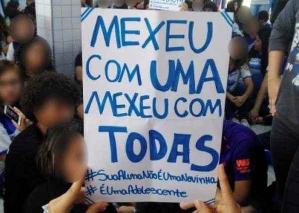 #SuaAlunaNãoÉUmaNovinha: Estudantes se unem contra assédio no ES