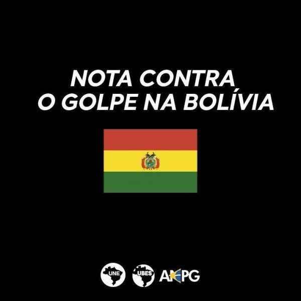 Entidades estudantis lançam nota conjunta contra Golpe de Estado na Bolívia
