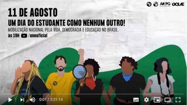 Dia do Estudante: Com dezenas de convidados, ato virtual apontou saídas para crise